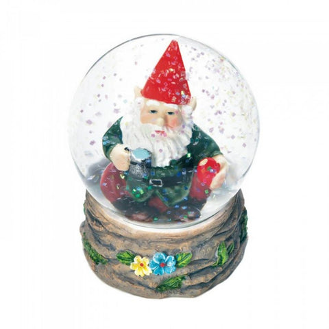 Coffee Break Gnome Mini Snow Globe - F. W. Woolworth Co. Online Store