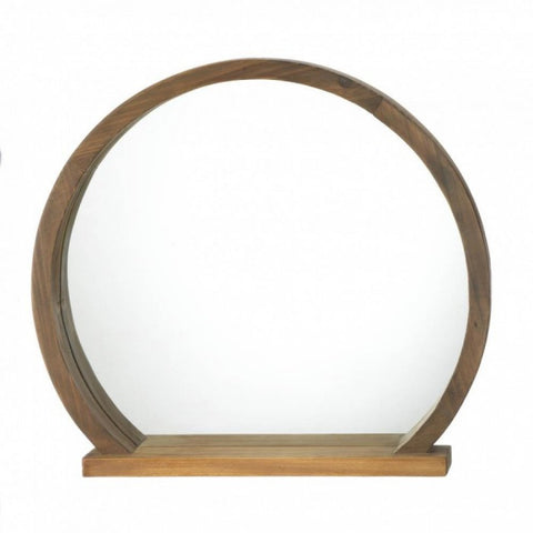 Round Wooden Mirror With Shelf - F. W. Woolworth Co. Online Store