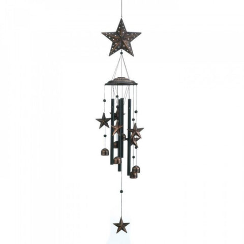 Bronze Stars Wind Chimes - F. W. Woolworth Co. Online Store