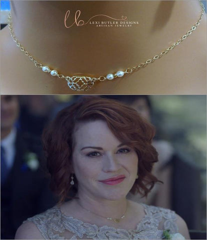 As Seen on Molly Ringwald Gold Filled Filigree Pearl Choker - F. W. Woolworth Co. Online Store