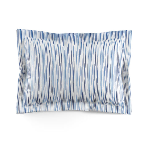 Blue Streaks Microfiber Pillow Sham