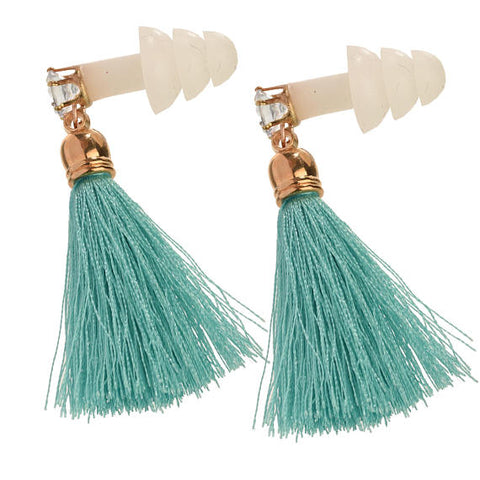 Breakfast at Tiffany's Rhinestone Tassel Earplugs