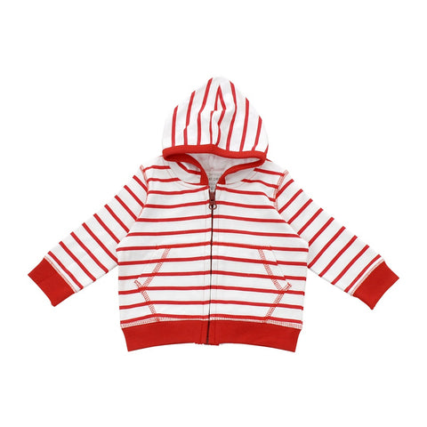 Hoodie in red marseille stripe
