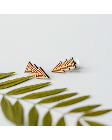 Triple Triangle Tribal Earrings