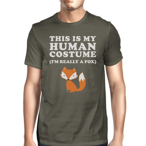 This Is My Human Costume Fox Mens Dark Grey Shirt - F. W. Woolworth Co. Online Store