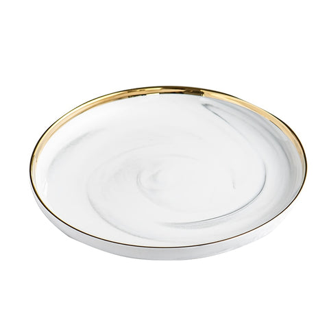 Gilded Marble Plate - F. W. Woolworth Co. Online Store