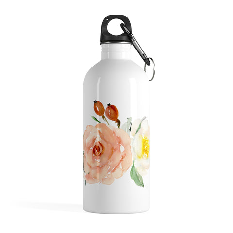 Watercolor Floral Stainless Steel Water Bottle - F. W. Woolworth Co. Online Store