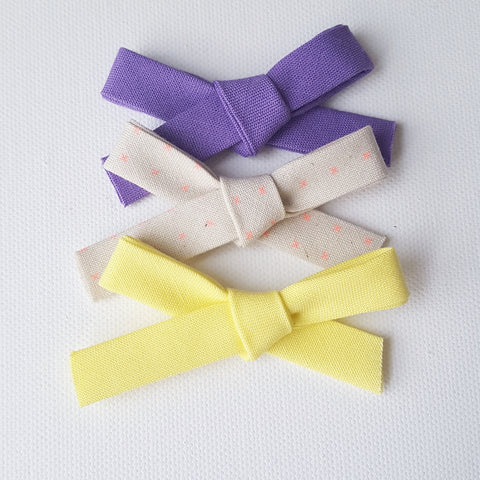 Set of 3 | Handmade Morning Glory Summer Hand Tied Bows | Nylon Headband - One Size Fits All | Photo Prop