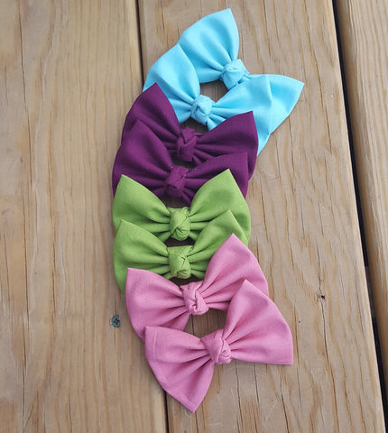 Handmade Large Knot Centered Bows / Fabric Bows/ Large Bows
