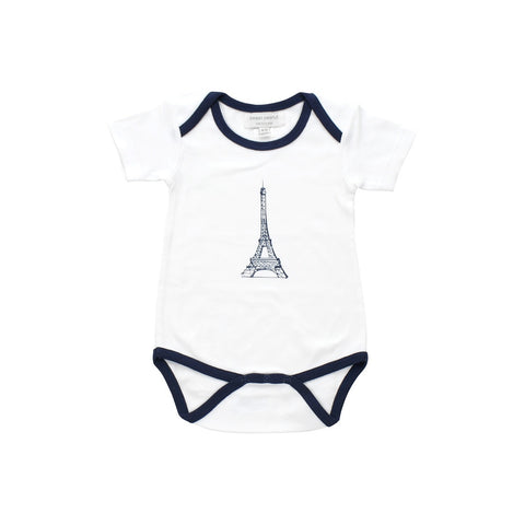onesie with navy blue eiffel tower - F. W. Woolworth Co. Online Store