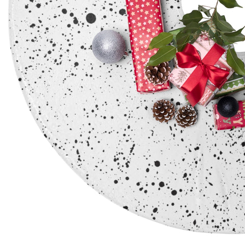 Black Splatter Christmas Tree Skirt