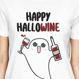 Happy Hallowine Ghost Wine Womens White Shirt - F. W. Woolworth Co. Online Store