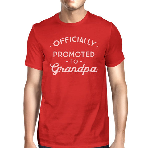 Officially Promoted To Grandpa Mens Red Shirt - F. W. Woolworth Co. Online Store