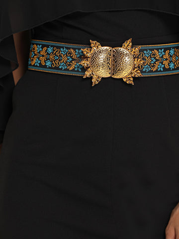 Flower Embroidery Retro Belt - F. W. Woolworth Co. Online Store