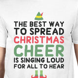 The Best Way To Spread Christmas Cheer Is Singing Loud For All To Hear Mens White Shirt - F. W. Woolworth Co. Online Store