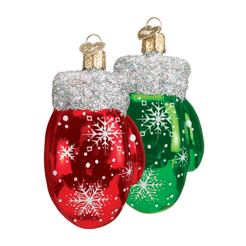 Christmas Mitten Tree Ornaments | Set of 2