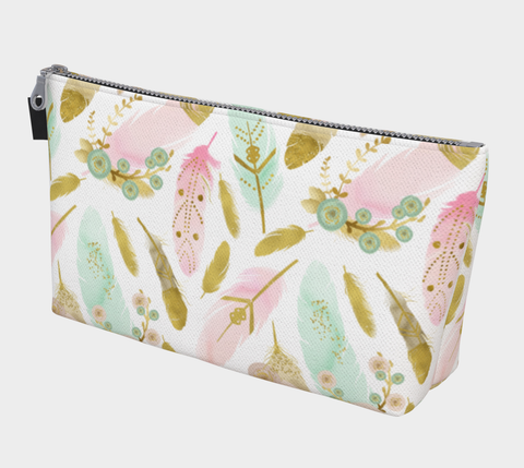 Boho Feathers Makeup Bag - F. W. Woolworth Co. Online Store