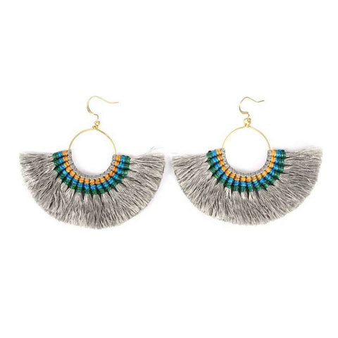 Tassel Fan Earrings - F. W. Woolworth Co. Online Store