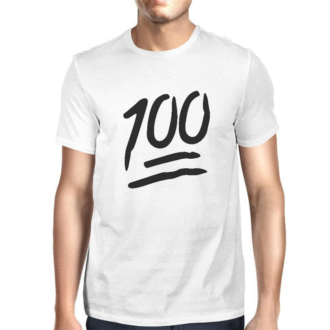100 Points T-shirt Back To School Tee Mens Cute Short sleeve Shirt
