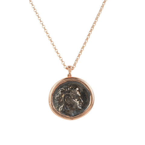 Roman Coin Pendant Necklace rosegold - F. W. Woolworth Co. Online Store