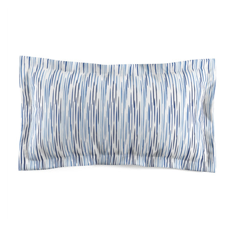 Blue Streaks Microfiber Pillow Sham - F. W. Woolworth Co. Online Store