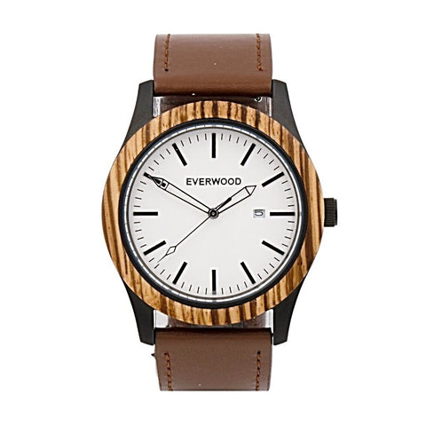 Inverness | Zebrawood Brown Leather - F. W. Woolworth Co. Online Store