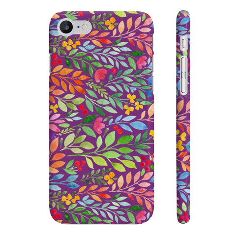 Purple Watercolor Slim Phone Case - F. W. Woolworth Co. Online Store