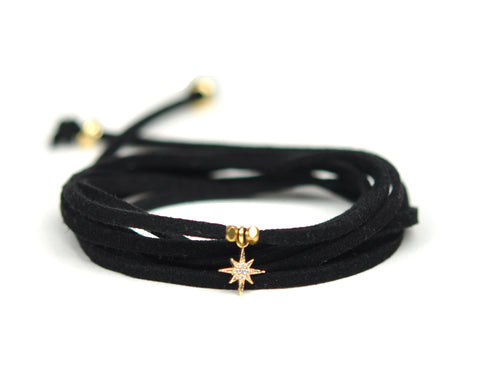 North Star Black Suede Choker