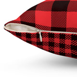 Double Sided Red Plaid Square Pillow Case - F. W. Woolworth Co. Online Store