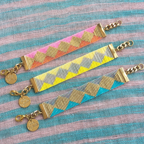 Soleil Bracelets - Pink / Yellow / Turquoise