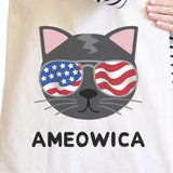 Ameowica Natural Eco-Friendly Canvas Bag Unique Cat Design Tote Bag - F. W. Woolworth Co. Online Store