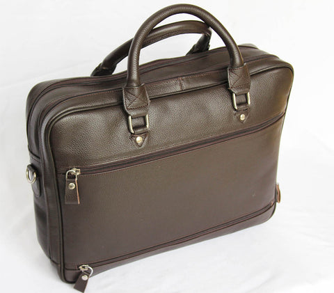 Leather Brown  Briefcase - Moroccan Handmade