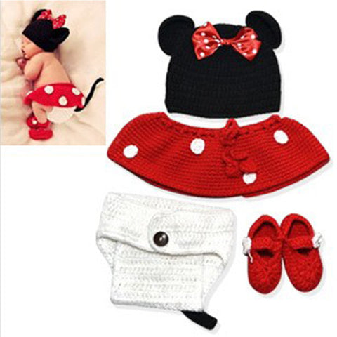 Mouse Newborn Baby Photo Shoot Outfit