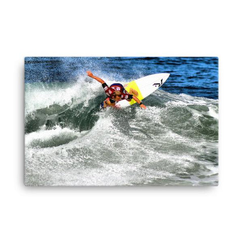 Surfer Josh Kerr on Canvas - F. W. Woolworth Co. Online Store