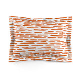 Red-Orange Stripes Microfiber Pillow Sham - F. W. Woolworth Co. Online Store