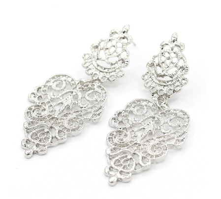 Agnes Earrings -Silver