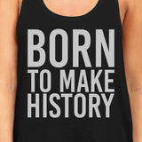 Born To Make history Womens Sleeveless Black Tank Top Yuri on Ice - F. W. Woolworth Co. Online Store