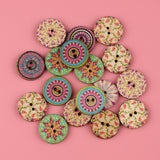 Vintage Pattern Wooden Buttons