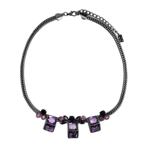 Sweet Geo Necklace - Plum