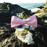 Solid Color Bow Tie - Pink, Woven Silk, Adult - F. W. Woolworth Co. Online Store
