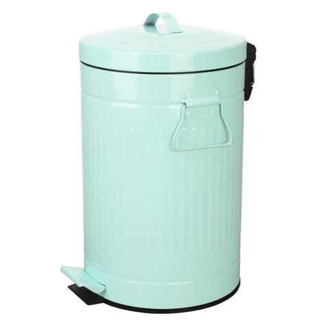 Mint Green Trash Can with Lid - F. W. Woolworth Co. Online Store