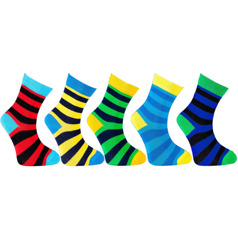 Kid's 5-pairs Colorful Stripe Socks - F. W. Woolworth Co. Online Store