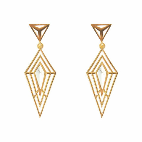 Howlite Statement Earrings - F. W. Woolworth Co. Online Store