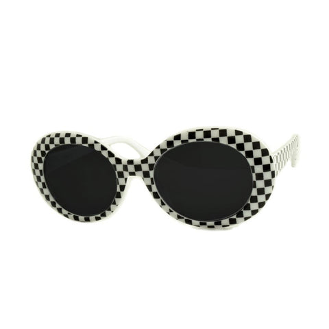 Cher Checkered Sunglasses
