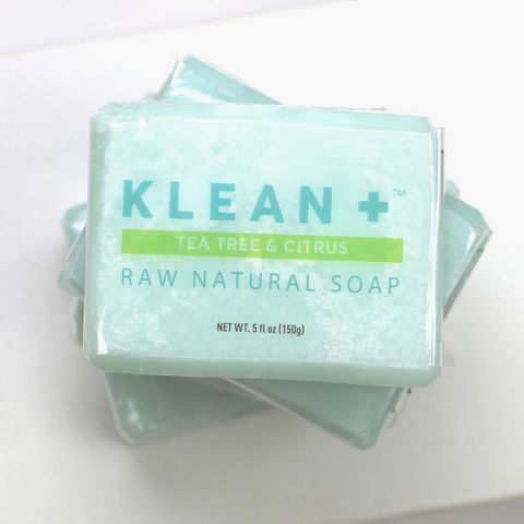 Klean + Raw Natural Soap, Tea Tree & Citrus, 5 Oz (150g)