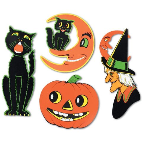 Vintage Style Halloween Cutouts | Set of 4 - F. W. Woolworth Co. Online Store