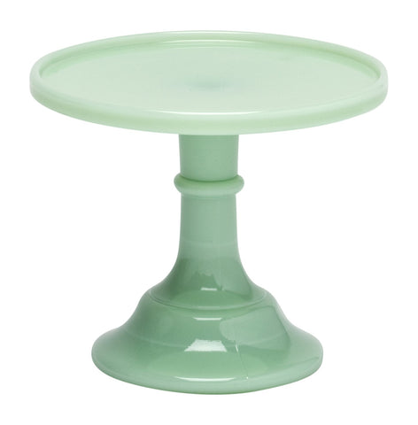 "Jadeite 6"" Glass Cake Stand - By Mosser Glass"