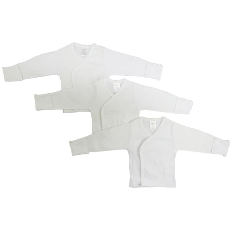 Bambini Long Sleeve Side Snap With Mittens - 3 Pack - F. W. Woolworth Co. Online Store