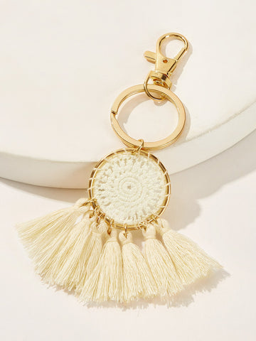 Tassel & Crochet Detail Ring Keychain - F. W. Woolworth Co. Online Store