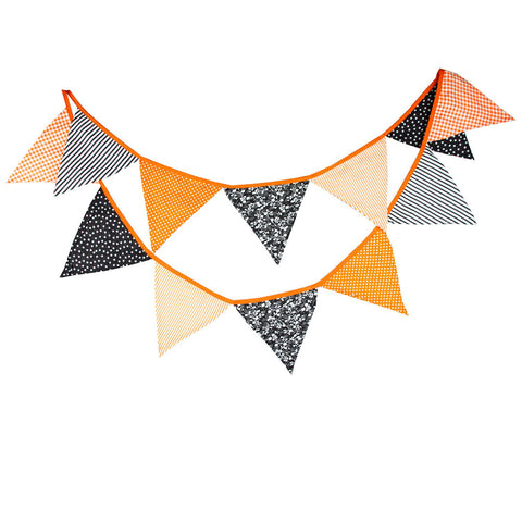 Halloween Cotton Fabric Buntings